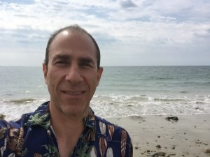 David enjoys the beaches in New England